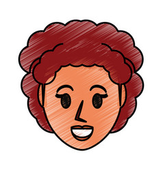 retro woman cartoon vector image