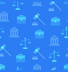 seamless pattern with law symbols on background vector image