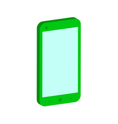 Smartphone symbol flat isometric icon or logo 3d vector