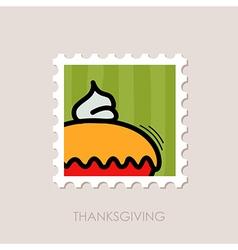 Thanksgiving pie stamp harvest vector
