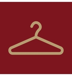 The hanger icon coat rack symbol flat vector