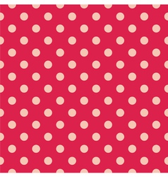Tile pattern pink polka dots on red background vector