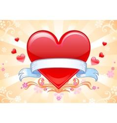 Valentine background wiht heart vector image vector image