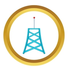 Wireless connection tower icon vector image vector image