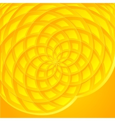 Yellow abstract sunflower background vector image