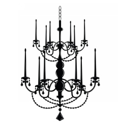 Rich baroque classic chandelier vector