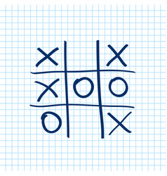 Tic tac toe noughts and crosses board game icon vector
