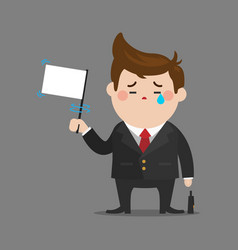 Businessman give up vector