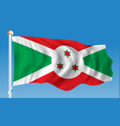 Flag of burundi vector
