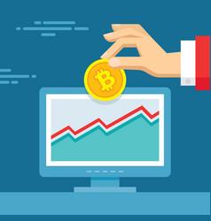 Digital currency bitcoin - vector