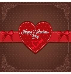 vintage valentines card vector image