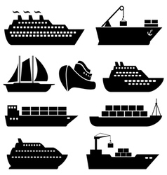 Ship icon set vector