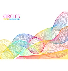 Colorful abstract circles vector