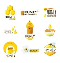 Honey labels set vector