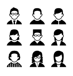 Managers and programmers user icons set vector