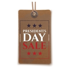 Presidents day sale price tag vector