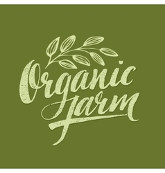 Organic farm modern brush lettering vector