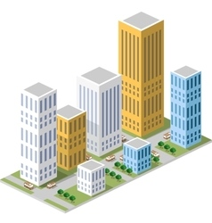 Isometric in a big city vector image