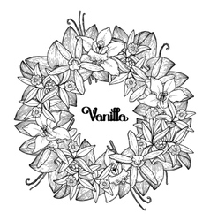 Graphic vanilla wreath vector