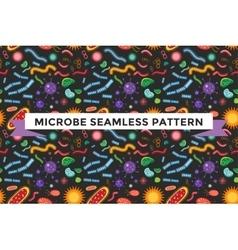Bacteria virus seamless pattern vector image