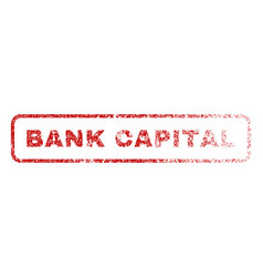 bank capital rubber stamp vector image
