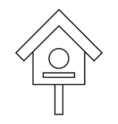 Bird house icon outline style vector image