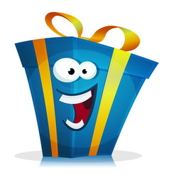 Birthday gift character vector