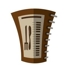 cartoon food restaurant menu spiral notepad vector image