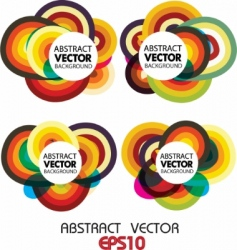 circle vector background vector image