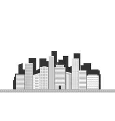 City landscape grey 01 vector image vector image