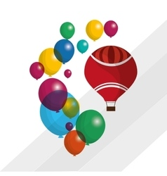 colored balloons icon vector image