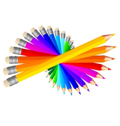 colorful pencils vector image