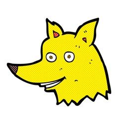 Comic cartoon fox head vector