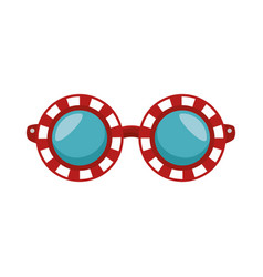 Comic glasses icon vector