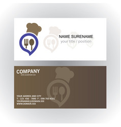 Head cook ceative business card vector