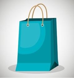 icon bag blue shop paper design vector image vector image