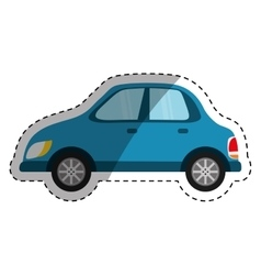 Isolated blue car vector