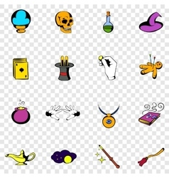 Magic set icons vector image vector image