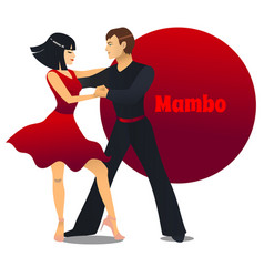 Mambo dancers in cartoon style vector