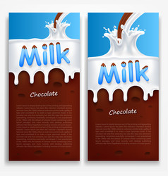 milk with chocolate vector image