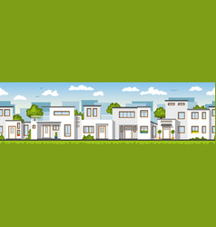 modern white houses also usable as a continuous vector image vector image