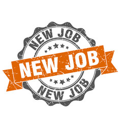 New job stamp sign seal vector