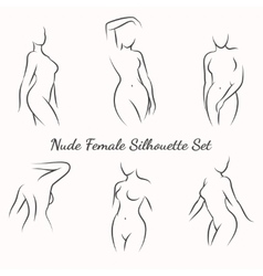 Nude female silhouette vector image