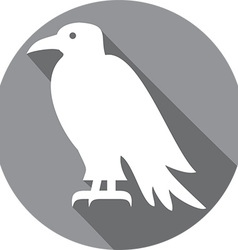 Raven bird icon vector