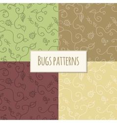 Seamless bugs pattern vector