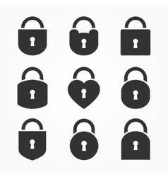 Set of Lock Icon Lock Icon Lock Icon Flat vector image vector image