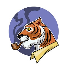Smoking Tiger vector image