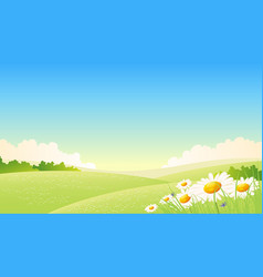 Spring or summer seasons poster vector
