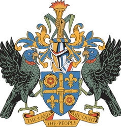 St lucia coat-of-arms vector
