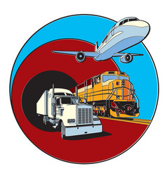transportation badge vector image vector image